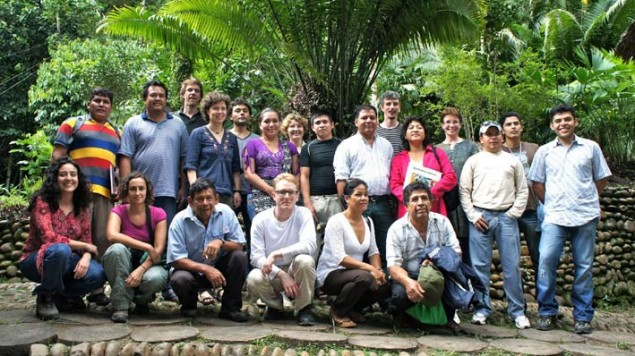 e SimPachamama team validating and calibrating the SimPachamama simulation model with the help from local farmers, cattle ranchers, loggers, teachers and municipal leaders at the SimPachamama workshop near Rurrenabaque, Bolivia, in April 2012.