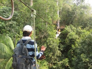 Zip Lining is just one fun recreational activity in the Bolivian jungle (Photo Credit: Ioulia Fenton)