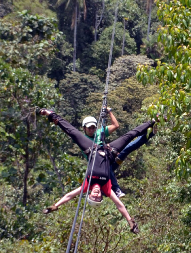 Lykke Andersen on a zip-line canopy tour near Mindo Ecuador October 2013 & Climate Change Knowledge Sharing Course in Ecuador - October 2013 ...