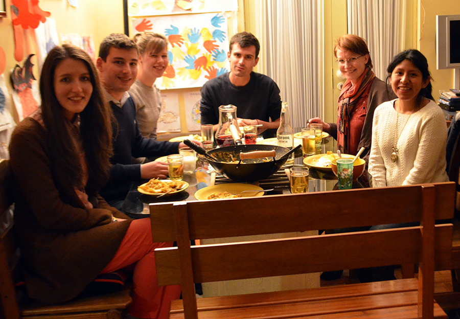 Beer & Book Club dinner at Susana's house, La Paz, August 2015.