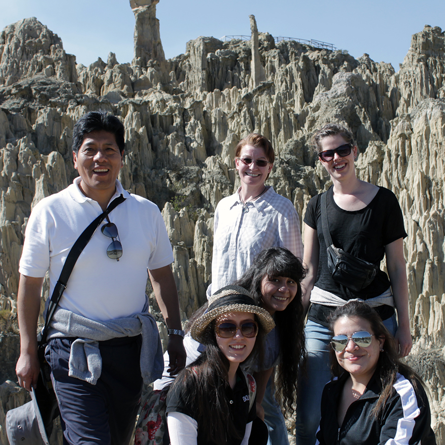 Johnny, Lykke, Ditte, Montserrat, Agnes and Natalia in Moon Valley, August 2015.