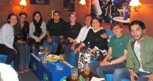 Farewell party at Shamrock Irish Pub in La Paz.