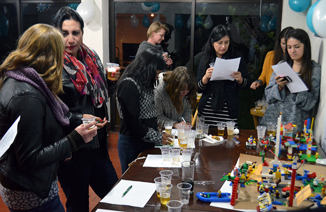 Confused faces as we try to guess which beer is which at INESAD's second beer tasting competition.
