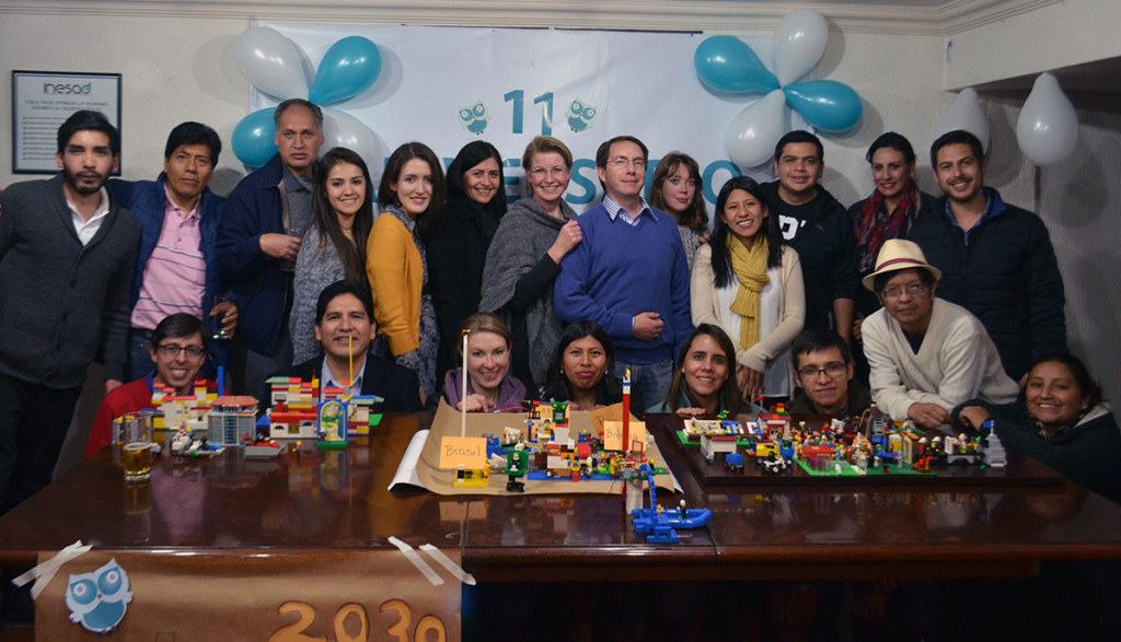 Group photo at INESAD's 11th Anniversary Party.