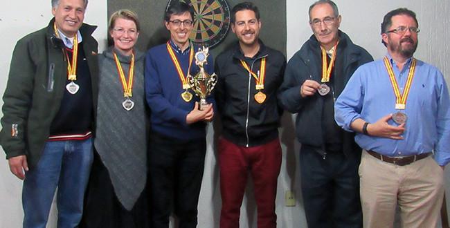 Winners of INESAD's 2017 Dream Team Dart Tournament.