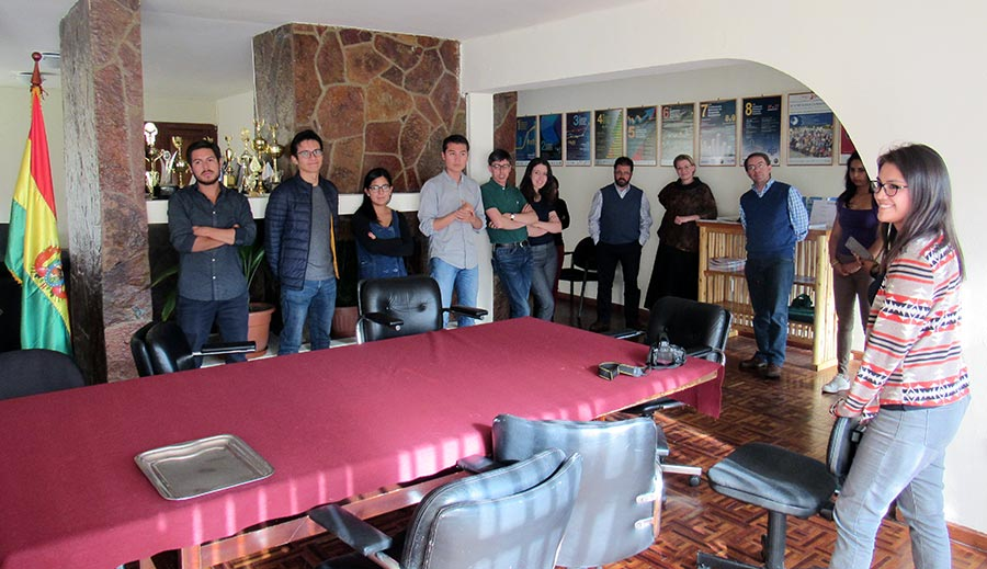 Farewell to Alejandra Goytia, who is on her way to Chile.