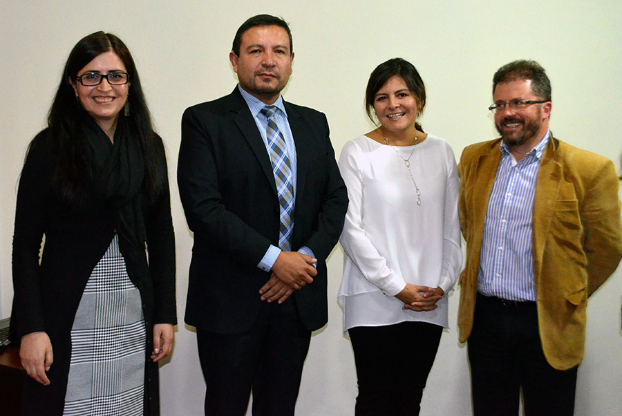 INESAD's current leadership, Executive Director, Beatriz Muriel, and the three members of the board of directors: Oscar Molina, Ximena Coronado and Miguel Antonio Roca.